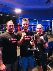 Taylor wins his first fight!