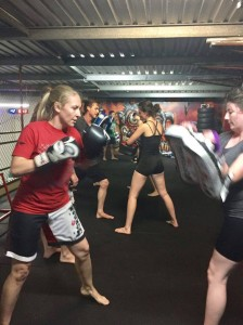 Monday night kickboxing class at Brisbane Fitness Empire