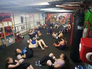 Tues night boxing class