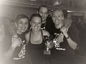 Presslea winning her first muay thai kickboxing fight!