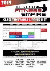 2019 latest timetable